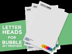 Letterheads for Bubble Jet Printers